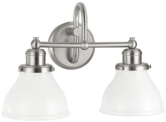 Capital Lighting Fixture Co. Capital Lighting 8302BN-128 Baxter 2-Light Vanity, Brushed Nickel