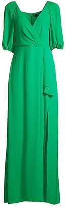 BCBGMAXAZRIA Eve Puff-Sleeve Gown