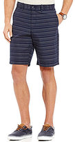 Original Penguin Stripe Slim-Fit Flat-Front Shorts