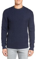 Rodd & Gunn Men's 'Mosgiel' Crewneck Merino Cable And Rib Knit Sweater