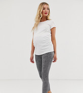 Asos DESIGN Maternity over the bump legging in marl