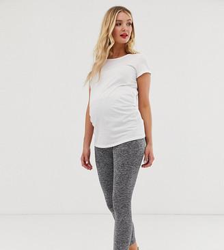 Asos DESIGN Maternity over the bump legging in marl-Gray
