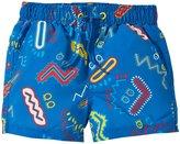 Stella McCartney Taylor Zig Zag Swim Trunks (Baby) - Blue-3 Months