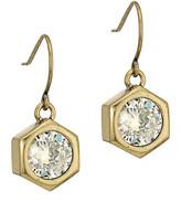 Nicole Miller Hexagon Stone Drop Earrings