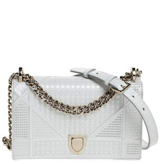Christian Dior Diorama White Patent leather Handbags