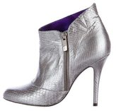 Barbara Bui Metallic Snakeskin Booties