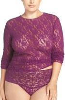 Hanky Panky Plus Size Women's Long Sleeve Lace Tee