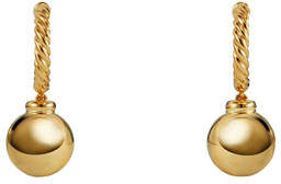 David Yurman Solari 18k Hoop Earrings w/ Dome Drops