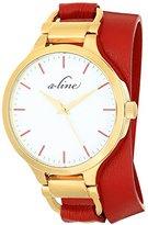 A Line a_line Women's AL-80027-YG-02-RDAS Gemini Analog Display Japanese Quartz Red Watch