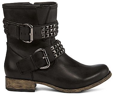 Mia girl Crusader Women's Studded Motorcycle Boots