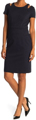 Eliza J Shoulder Cutout Sheath Dress