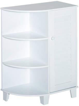 """Homcom HomCom 32"""" Floor Cabinet With Shutter Door and Side Shelves, White"""