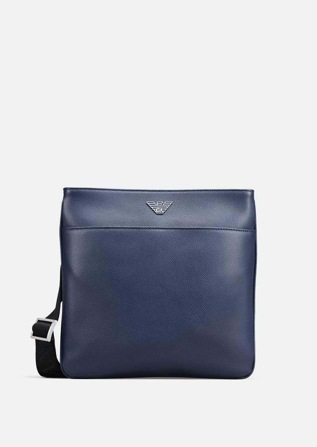 Emporio Armani Printed And Boarded Leather Cross Body Bag