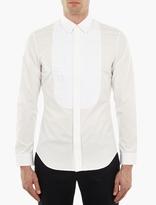 Maison Margiela White Bib-Detail Shirt
