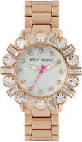 Betsey Johnson Women's Rose Gold-Tone Bracelet Watch 38mm BJ00612-03