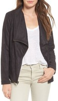 Cupcakes And Cashmere Women's Finleigh Faux Suede Moto Jacket