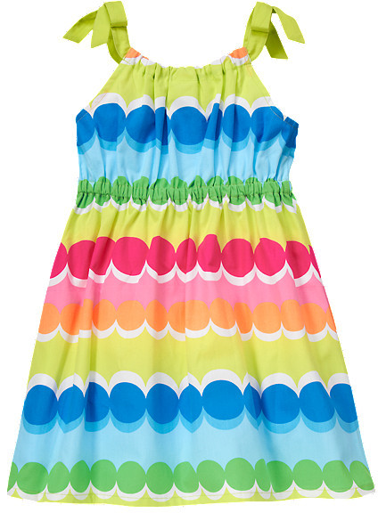 Gymboree Rainbow Dot Stripe Dress