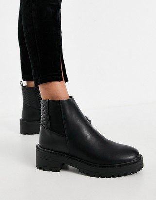 Schuh Adeline chunky chelsea boots in black