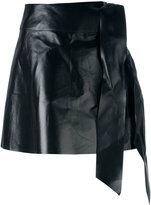 Valentino tied mini skirt - women - Lamb Skin - 36