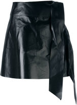 Valentino tied mini skirt - women - Lamb Skin - 38