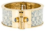 Kara Ross Snakeskin Bangle Bracelet