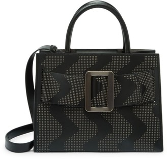 Boyy Bobby Zigzag Studded Leather Tote