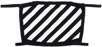 Off-White Diagonal Stripe Face Mask