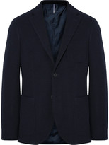 Incotex - Midnight-blue Slim-fit Wool-terry Blazer