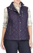 Lauren Ralph Lauren Plus Diamond-Quilted Vest