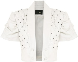 Andrea Bogosian Cropped Quilted Leather Jacket