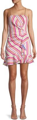 Parker Multistripe Ruffle Dress