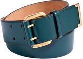 Salvatore Ferragamo Petrol Double-Hole Leather Belt