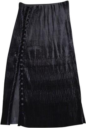 Marco De Vincenzo Black Velvet Skirt for Women