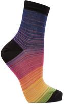 Missoni Striped metallic cotton-blend socks