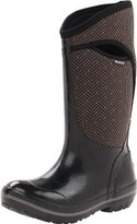 Bogs Women's Plimsoll Tall Herringbone Waterproof Insulated Boot, Black/Grey