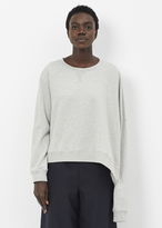 MM6 MAISON MARGIELA grey melange sweatshirt