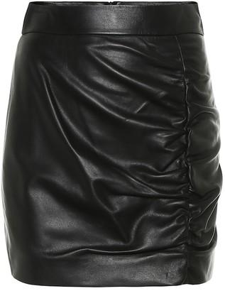 ZEYNEP ARCAY Ruched leather miniskirt