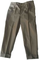 Miu Miu Beige Cotton Trousers for Women