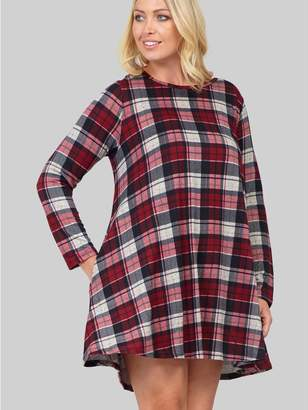 M&Co Izabel Curve checked swing dress