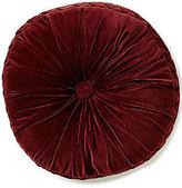 J Queen New York Catherine Tufted Velvet Round Pillow