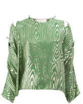 Maison Rabih Kayrouz printed blouse - women - Silk/Metallic Fibre - 36