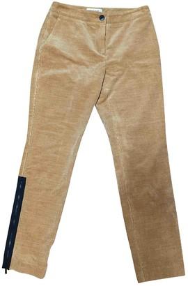 Chanel Camel Wool Trousers