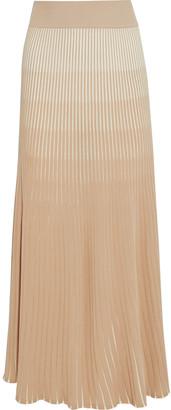 Nicholas Agonda Degrade Ribbed-knit Maxi Skirt