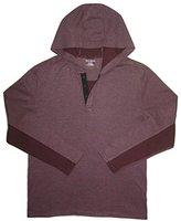 DKNY Men's Long Sleeve Flatback Rib Hooded Henley