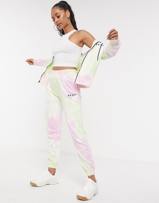 DKNY sport tie dye jogger with logo in multi