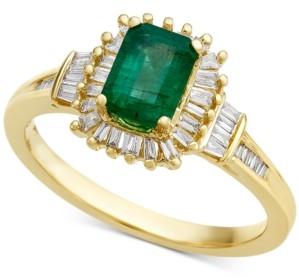 Macy's Emerald (3/4 ct. t.w.) & Diamond (1/3 ct. t.w.) Ring in 14k Gold