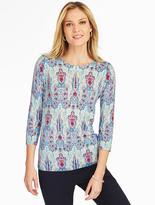 Talbots Mykonos Printed Pullover