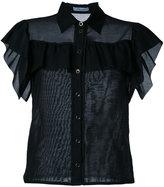 Blumarine ruffled fitted blouse - women - Cotton/Silk - 40