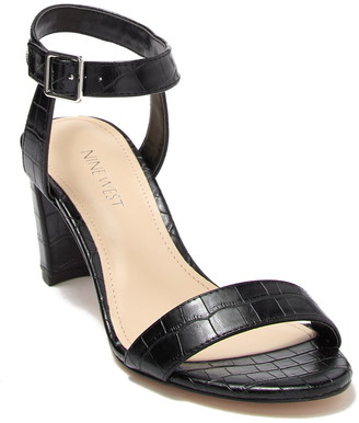 Nine West Pruce Embossed Block Heel Sandal
