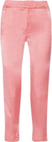 Kain Label Rory high-waisted washed-silk tapered pants
